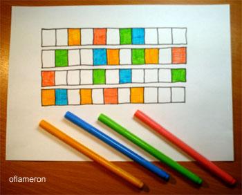 Если цветных фломастеров нет, это никак не повлияет на качество игры.  Теперь надо вписать.
